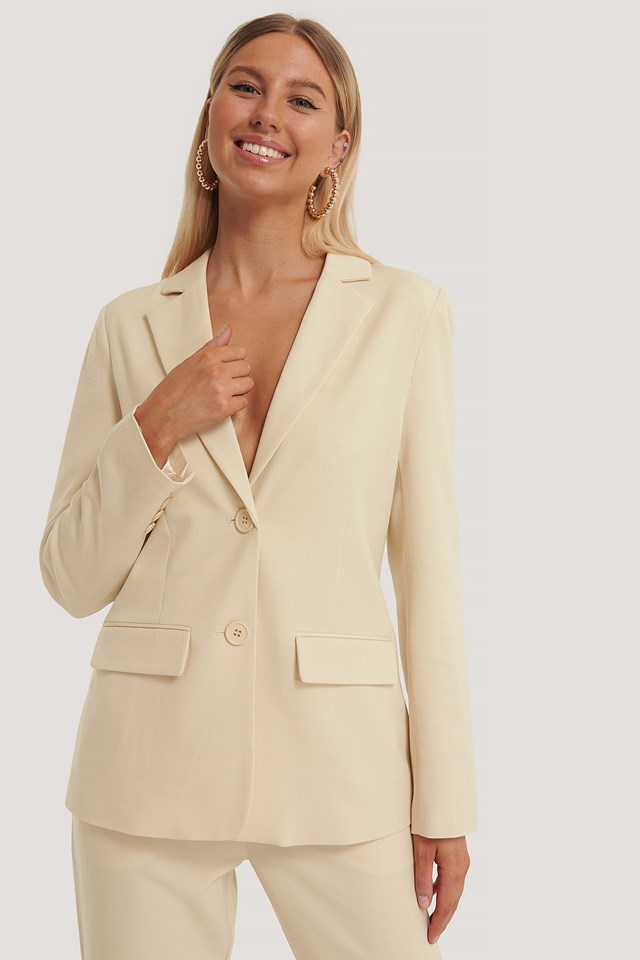 Regular Blazer Beige