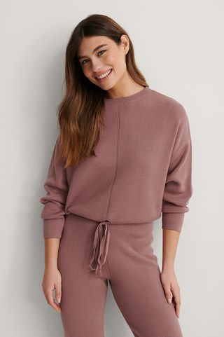 Dusty Dark Pink Knitted Top