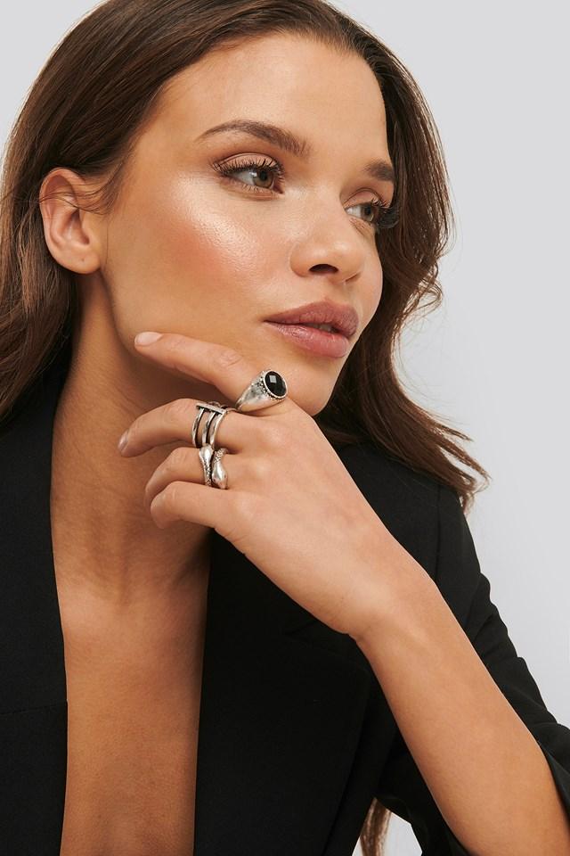 Laura Genovino 3-pack Rings Silver