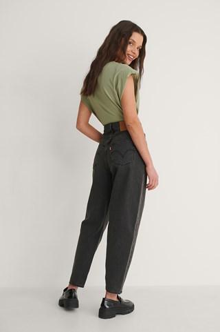Black High Loose Taper Loose Control Jeans