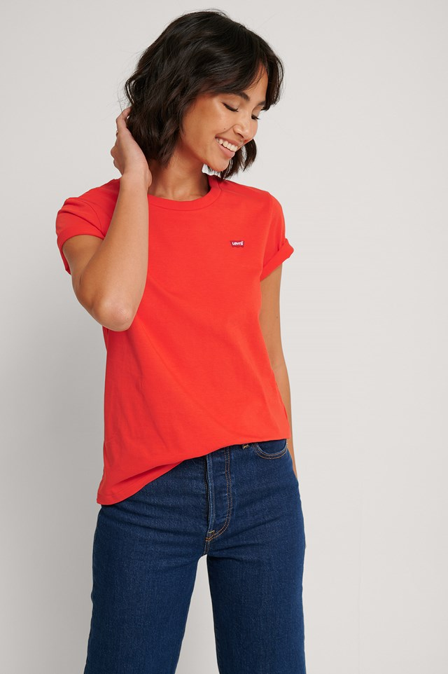 The Perfect Tee Poppy Red Red