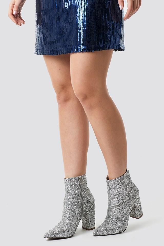 Glitter Heel Boots Linn Ahlborg x NA-KD