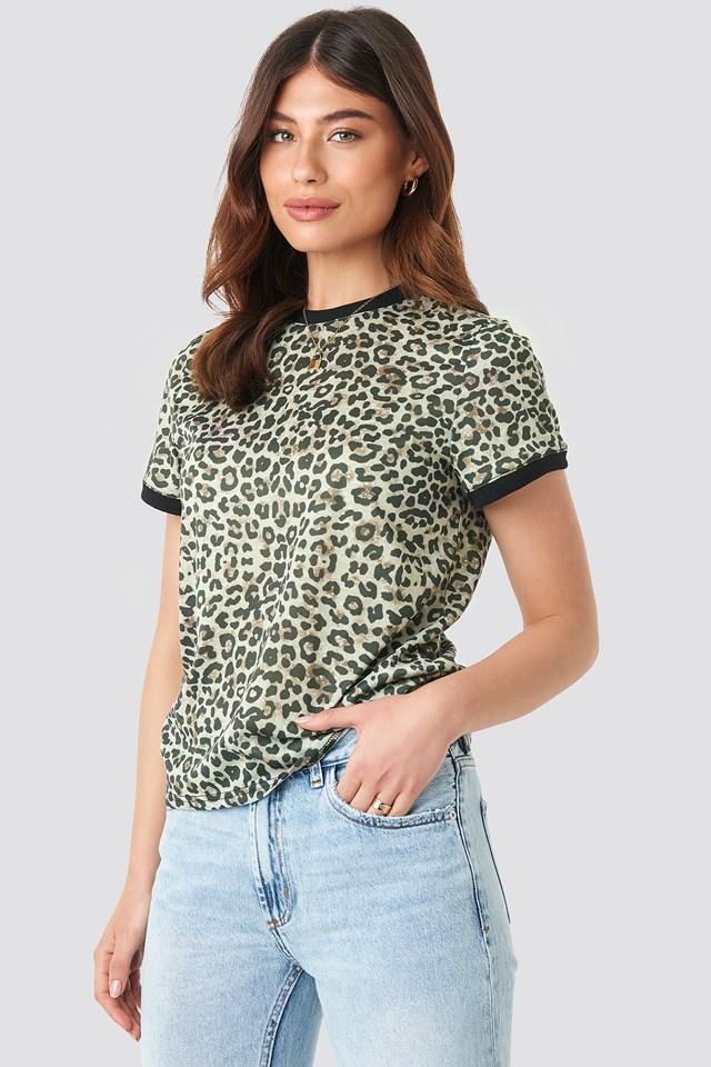 Printed Tee Leopard