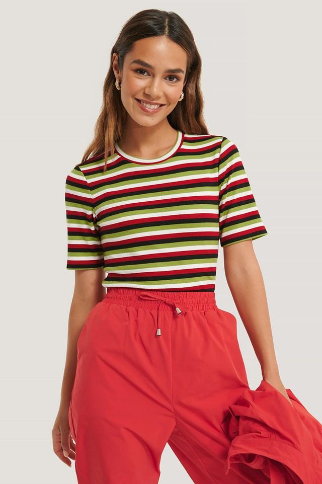 Striped Tee Multicolor
