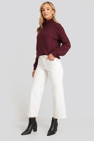 Offwhite Culotte Jeans