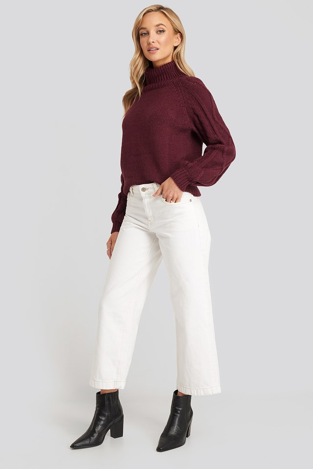 Culotte Jeans Offwhite