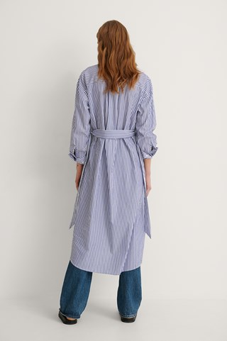 Blue Fresh Shirt Dress
