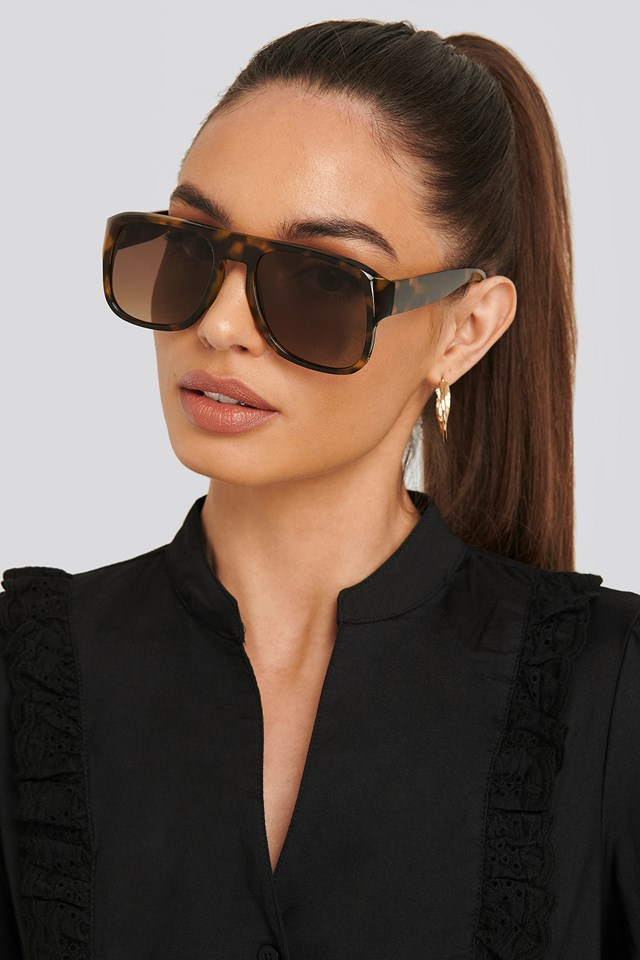 Jackie Sunglasses Dark Brown