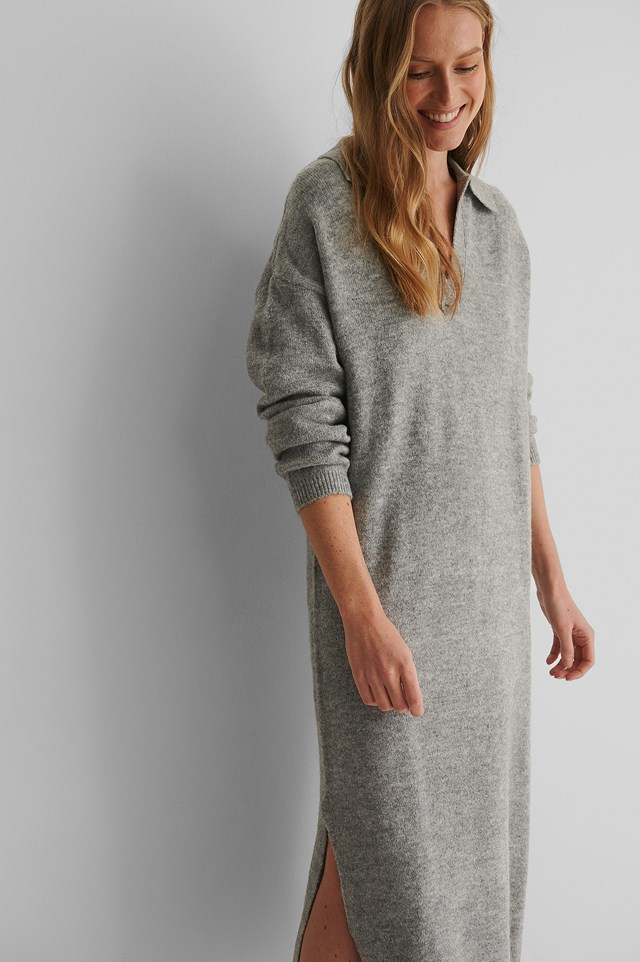 Polin Knit Dress Grey