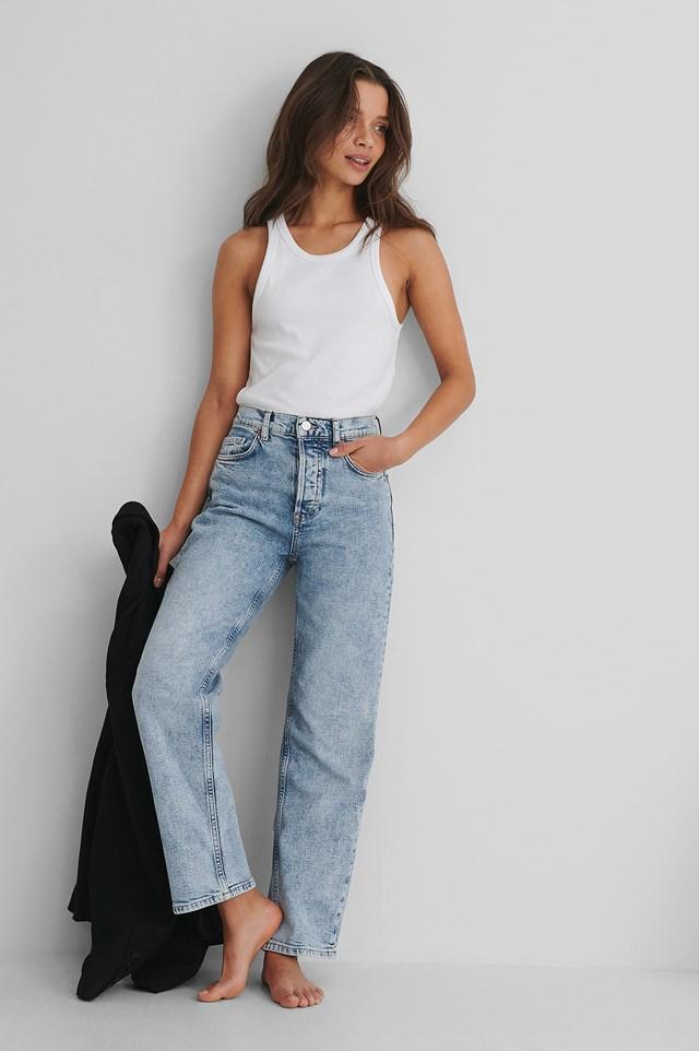 Premium Crop Jeans Denim