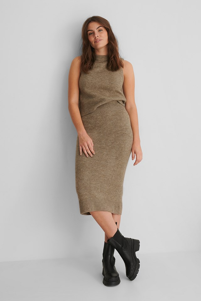 Taldora Skirt Light Brown
