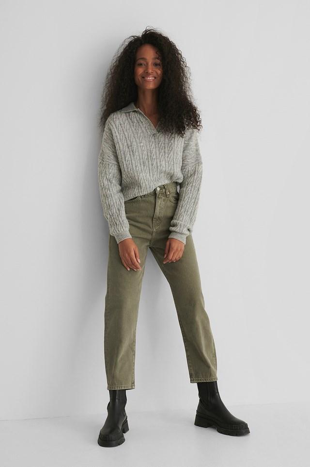 Khaki Veronica Jeans