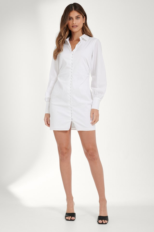 Shirt Dress White