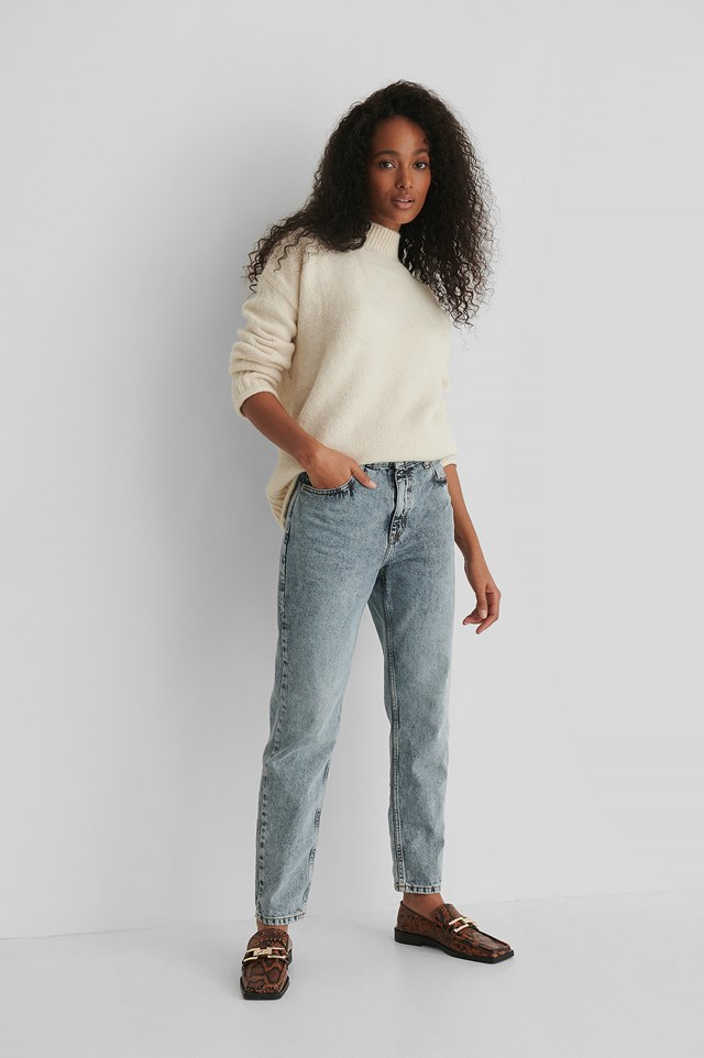 Mom 80 Jeans Blue