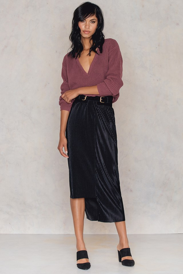 Pleated Asymmetric Skirt NA-KD Party