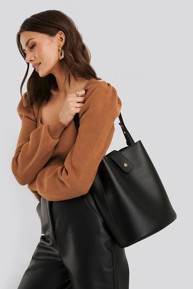 PU Shoulder Bag Black