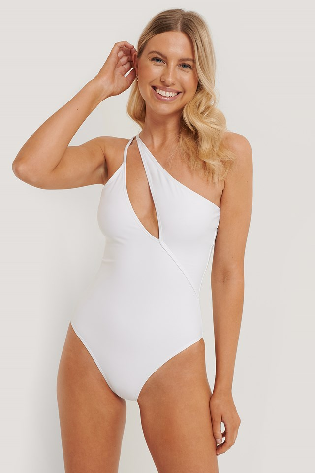 Strap Swimsuit White