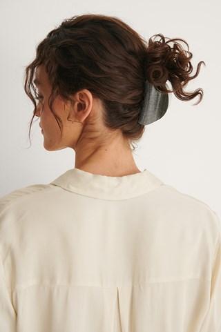 Brown/Grey 2-Pack Halfmoon Hairclips