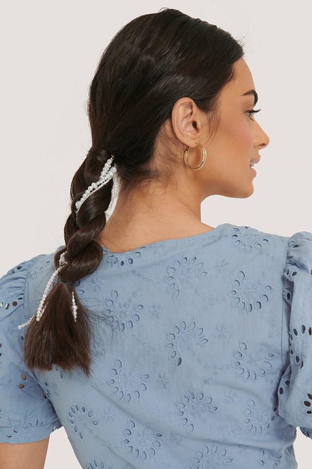 3-pack Beaded Hair Jewellery White