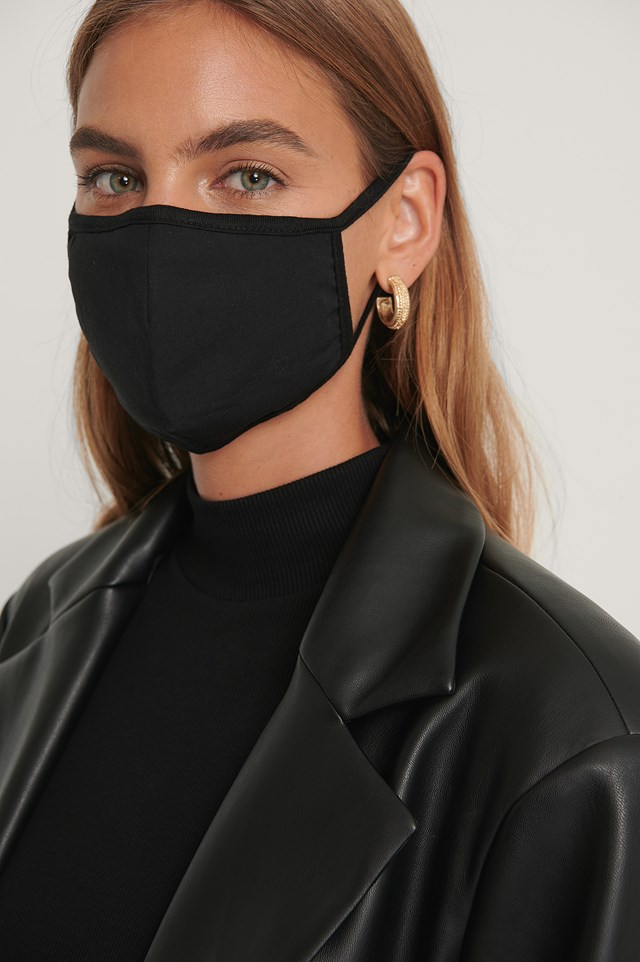 3-Pack Basic Face Masks Black