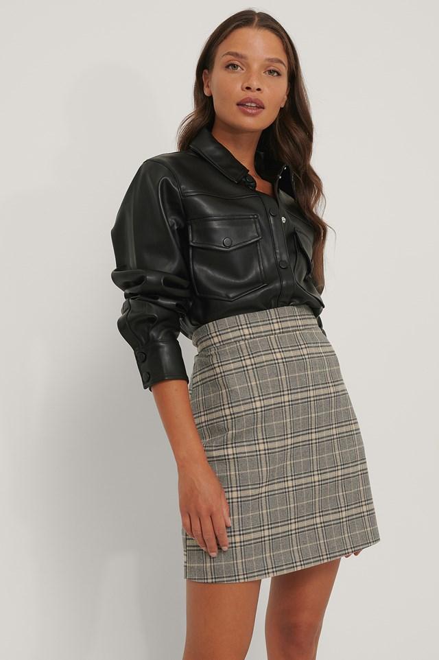 A-line Mini Check Skirt Check