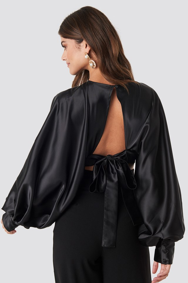 Balloon Sleeve Open Back Blouse NA-KD Party
