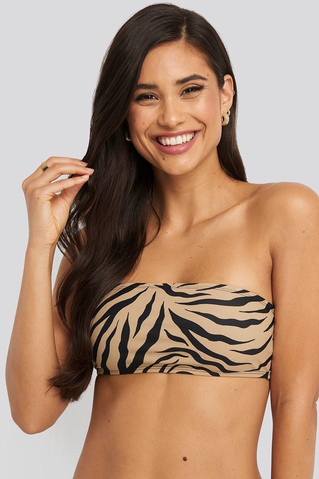 Bandeau Bikini Top Zebra