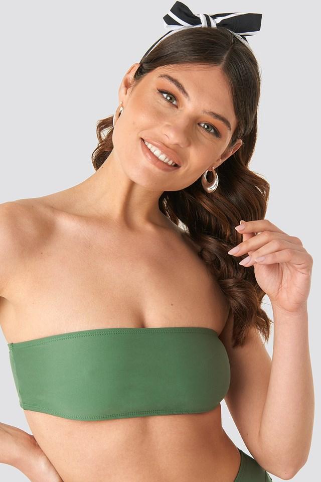 Bandeau Bikini Top Khaki