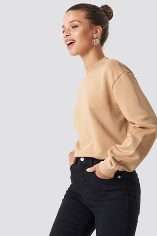 Light Beige Basic Sweater