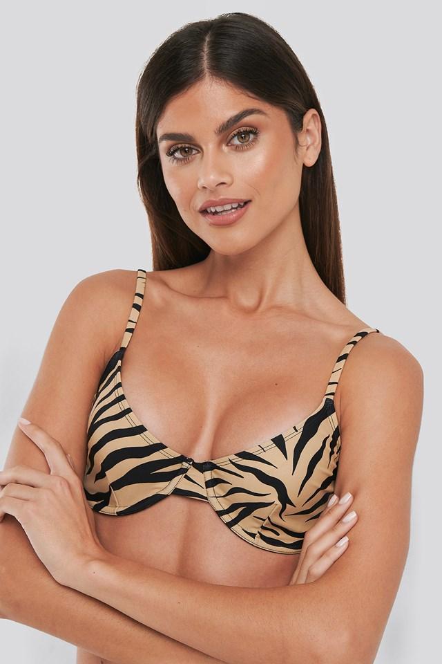 Basic Bikini Cup Bra Zebra