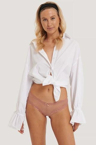 Light Pink/Dark Pink Basic Brazilian Mesh Panty 2-pack