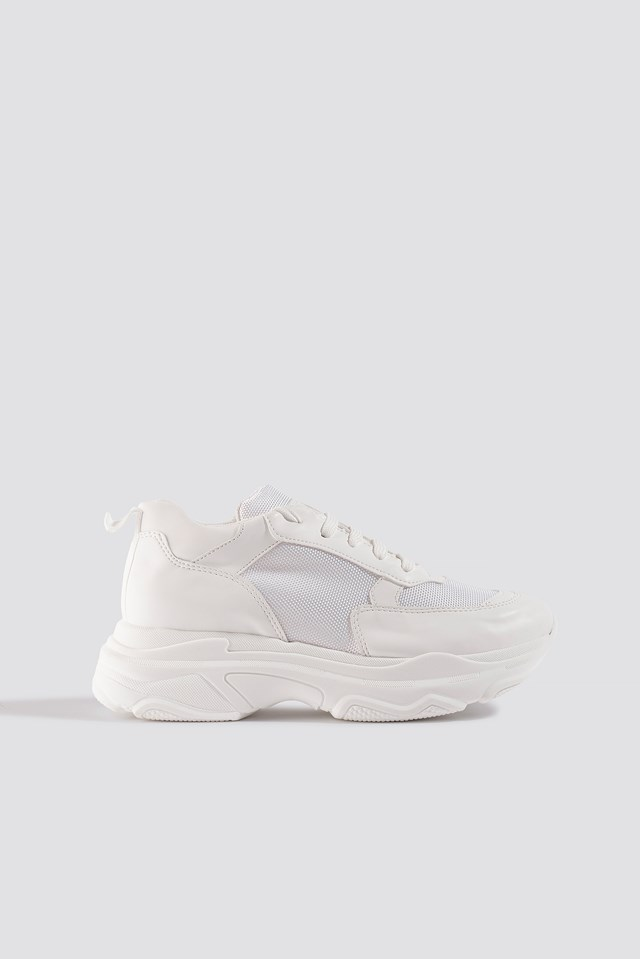 Basic Chunky Trainers White