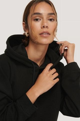 Black Basic Cropped Hoodie