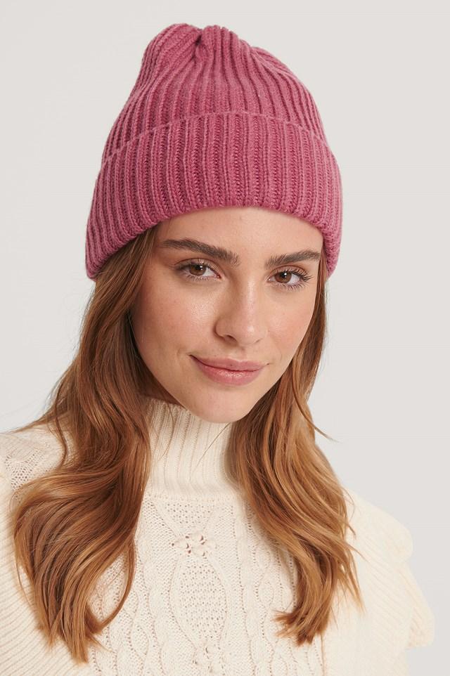 Basic Knitted Beanie Rose
