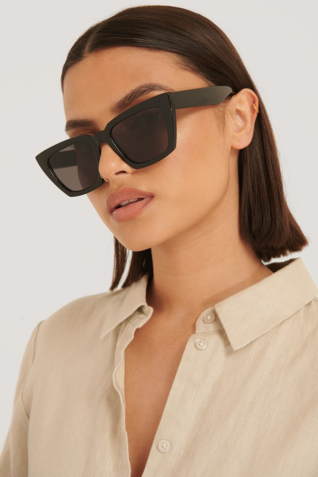 Basic Squared Sunglasses Black