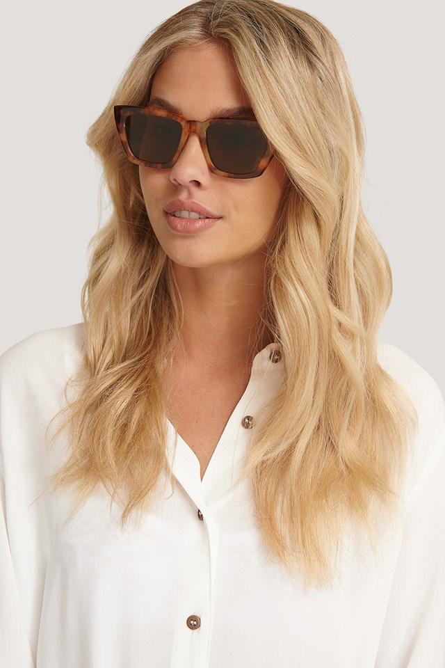 Basic Squared Sunglasses Tortois
