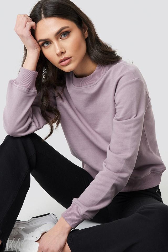 Dusty Light Purple Basic Sweater