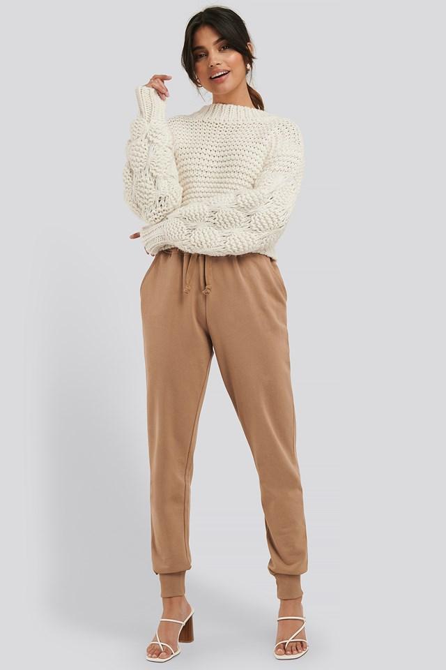 Basic Sweatpants Beige