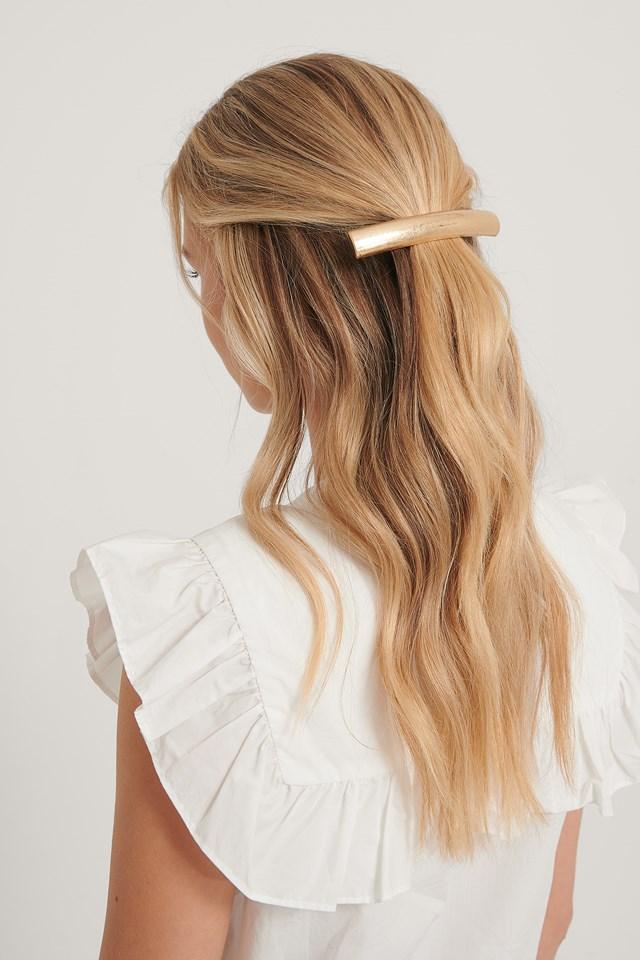 Big Matte Hair Clip Gold