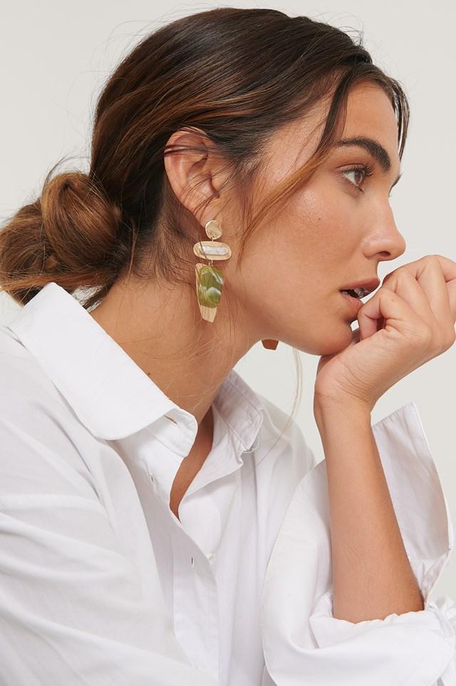 Big Ornament Earrings Gold