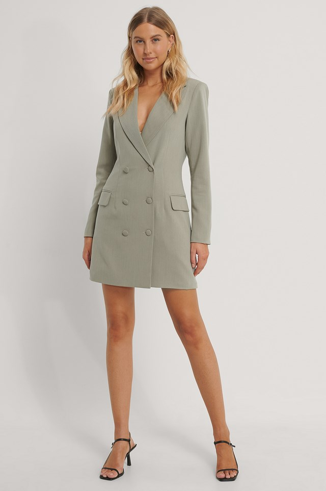 Blazer Dress Light Khaki