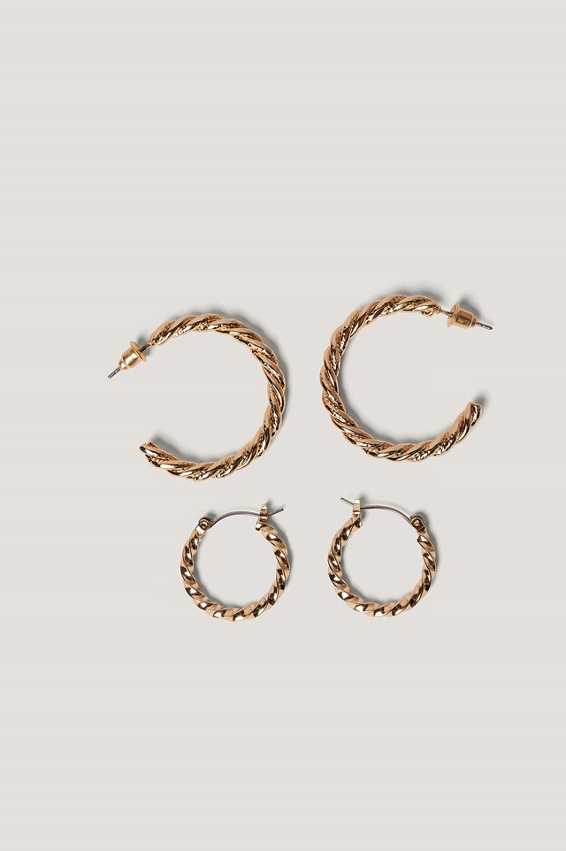 Braided Earrings Set NA-KD Accessories