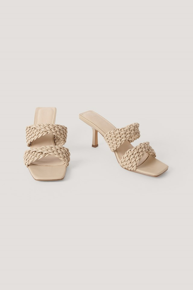 Braided Twisted Strap Sandals NA-KD Shoes