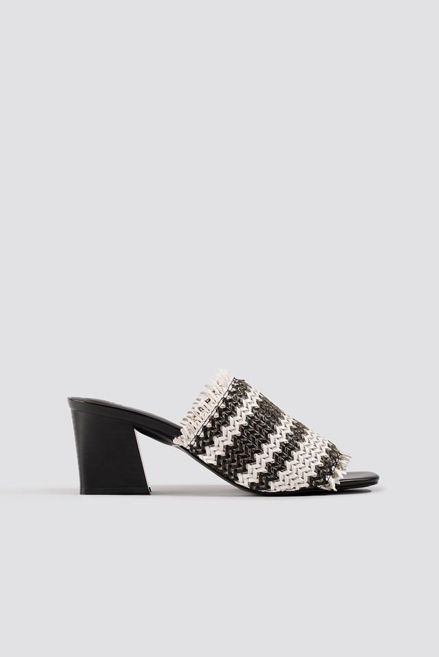 Braided Upper Mules NA-KD Shoes