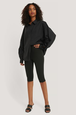 Black Capri Biker Pants