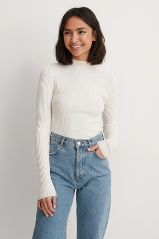Ecru Carmen Knit Top
