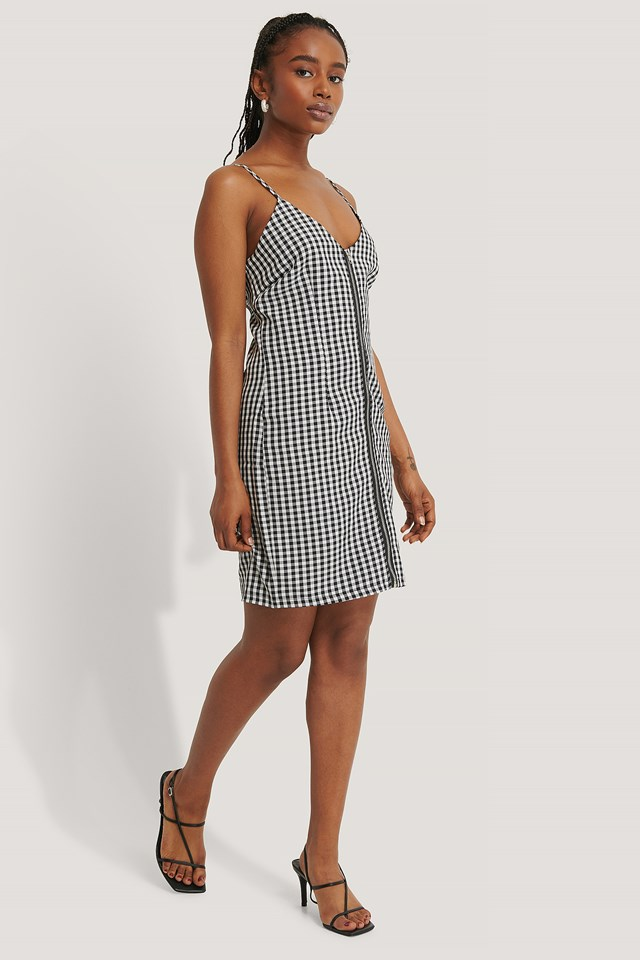 Checkered Mini Dress Checkered