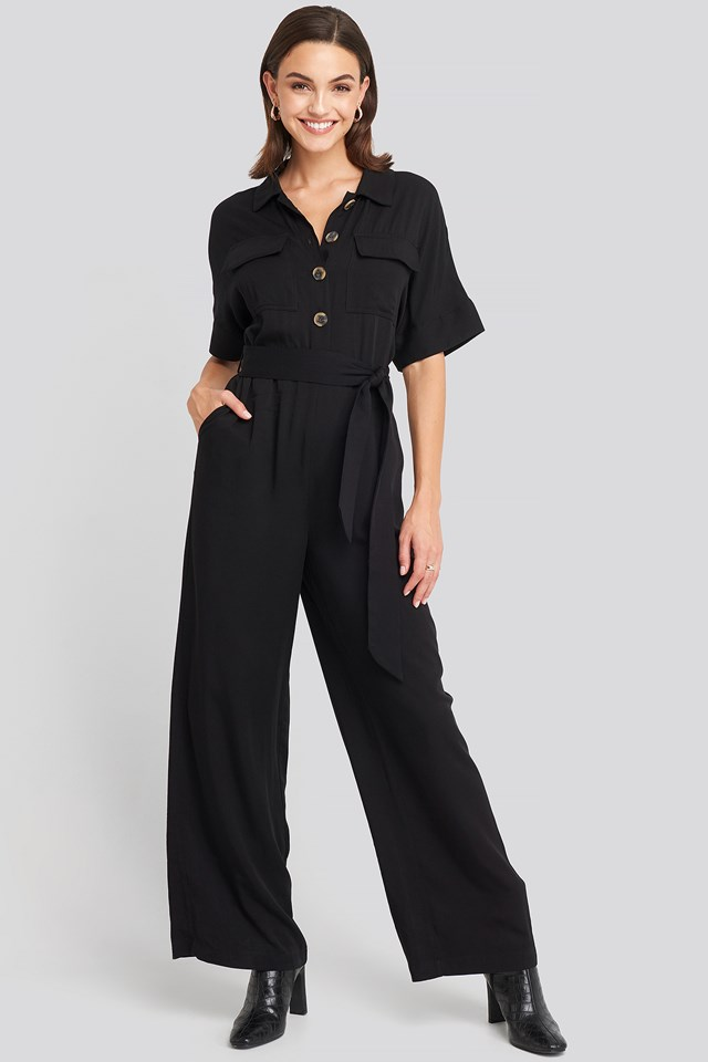 Chest Pocket Buttoned Jumpsuit NA-KD