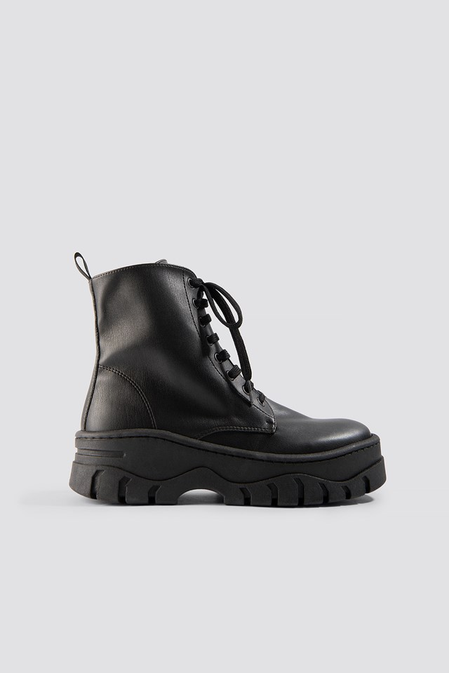 Chunky Profile Combat Boots NA-KD Shoes