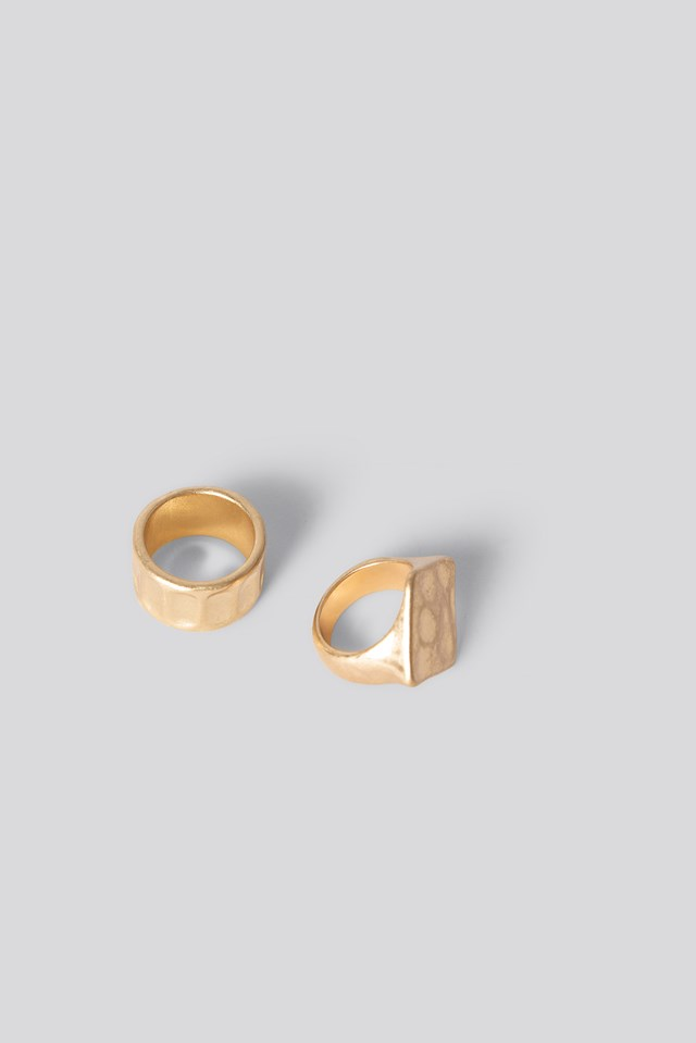 Chunky Vintage Rings NA-KD Accessories
